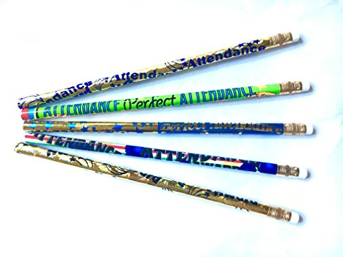 Attendance Pencils (Attendance Award Mix - 36 Assorted Attendance Reward Pencils DMX-ATTD)