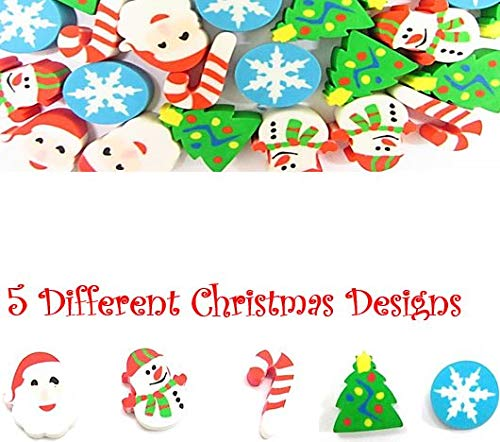 Great Fun To Play With Party Favor By Mega Stationers 200 Pcs Amazing Kids Students Gift Assorted Christmas Erasers For Holiday