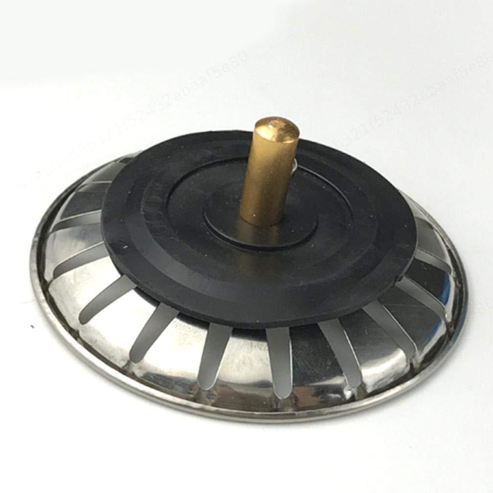 KOKO Zhu Colador de Fregadero de Cocina de Acero Inoxidable 77 mm Tap/ón Filtro de residuos de Alimentos Agujero de ba/ño de Goma Colector de Cabello Reemplazo de la Canasta de Drenaje