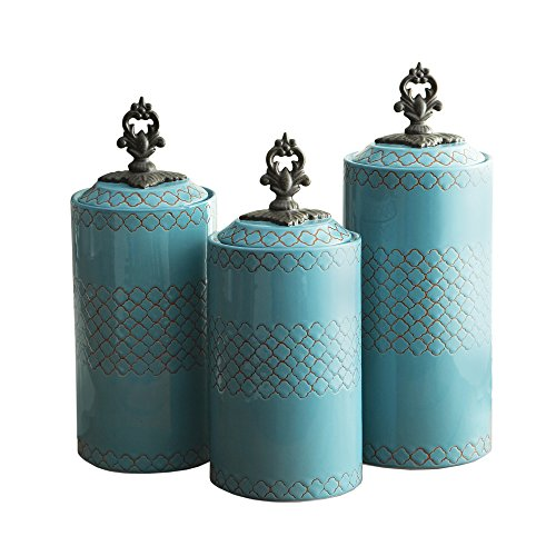 Gentil American Atelier Canisters (Set Of 3), Blue