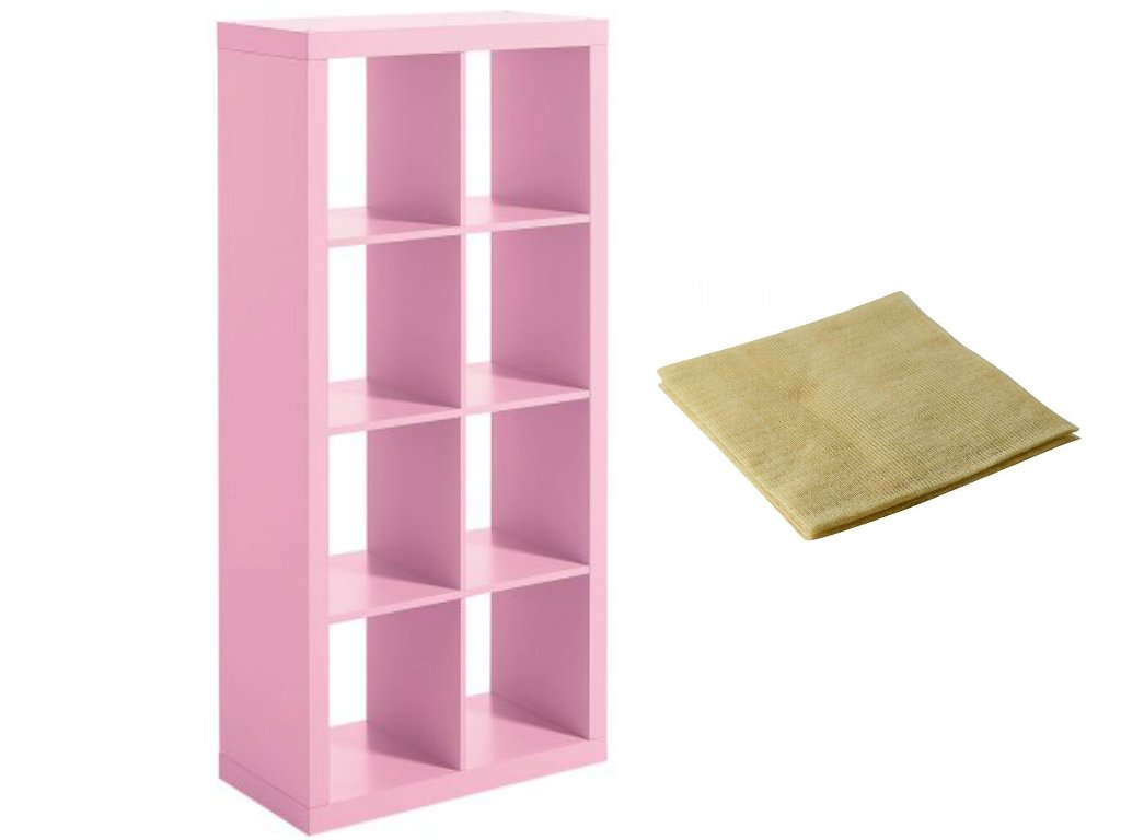 Modern Better Homes and Gardens 8-Cube Organizer in Pink with a Bonus Dust Cloth