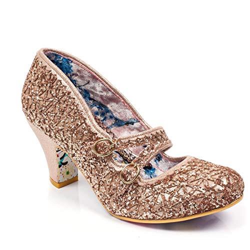 Irregular Choice Dazzle Dance Glitter Pump Gold ()