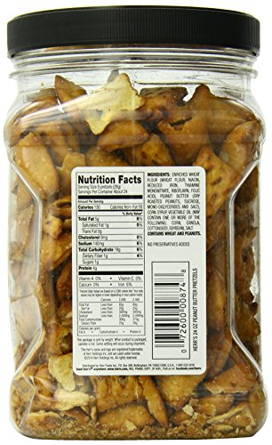 Herr's Peanut Butter Filled Pretzel Barrel, 24 Oz