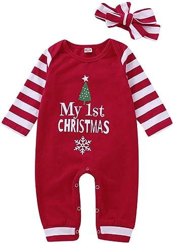 Mi Primera Navidad Bebé Beanie sombrero//gorra newborn-12m Niño Niña Acce Regalo De Navidad Rojo