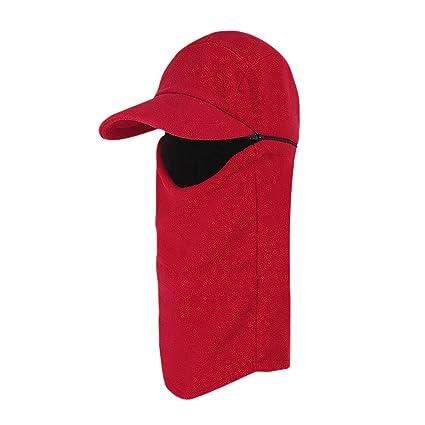 b64f47ec96c9 Winter 3 In 1 Full Face Hood Ski Mask Baseball Beanie Cap Scarf Neck Warmer  for