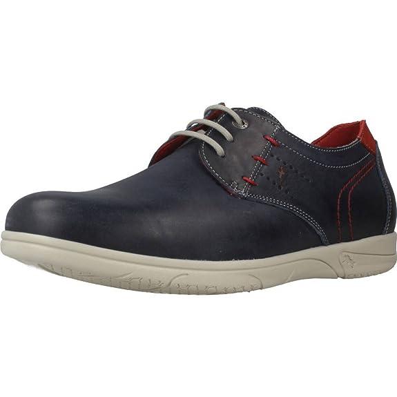 Fluchos ETNA, Zapatos de Cordones Oxford para Hombre, Marrón (Brown), 44 EU
