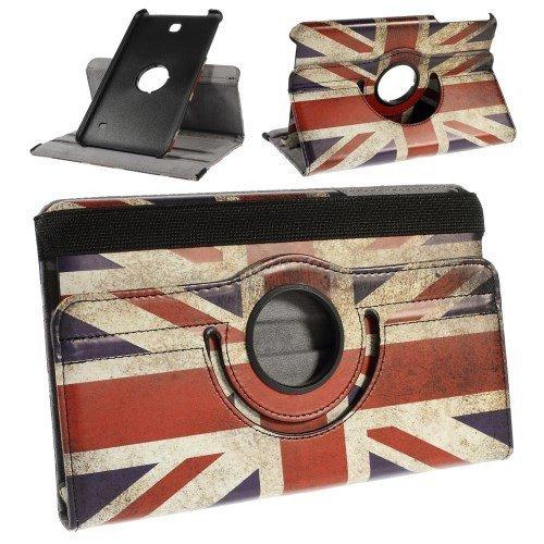 Giratorio caja de la tableta del caso del tirón para Samsung Galaxy Tab 8.0 3G 4 / SM-T331, Galaxy Tab 8.0 LTE 4 / SM-T335, Galaxy Tab 8.0 WiFi 4 / SM-T330 Union Jack (la bandera de Inglaterra / de la