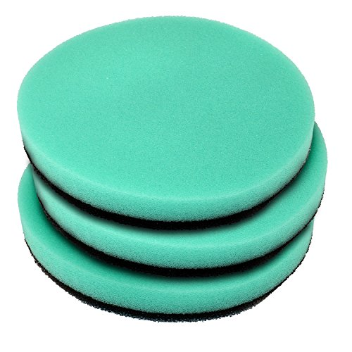 HQRP Pack of 3 Washable Foam Air Filter for LG Kompressor LuV300B LuV400T Vacuum, MDJ61980601 Replacement Coaster