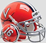 Schutt NCAA Virginia Cavaliers Mini Authentic XP Football Helmet, Black Orange #16 Alt. 5, Mini