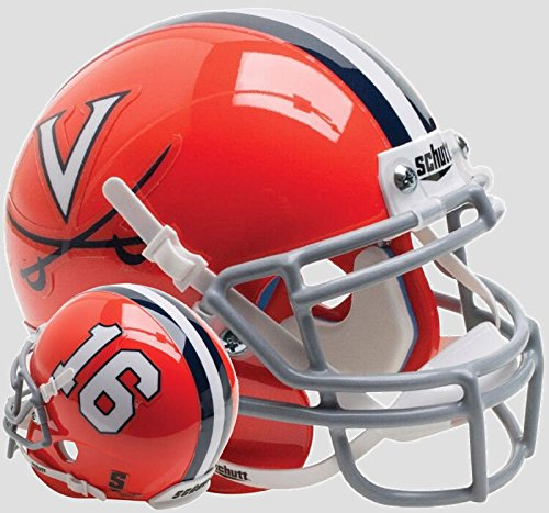 (Schutt Virginia Cavaliers Mini XP Authentic Helmet Orange 16 - Licensed NCAA Merchandise)