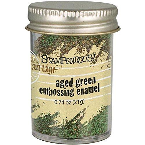 STAMPENDOUS Frantage Embossing Enamels, Aged Green Color FREG043
