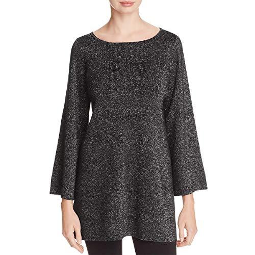 Eileen Fisher Womens Merino Wool Metallic Tunic Sweater Black M from Eileen Fisher