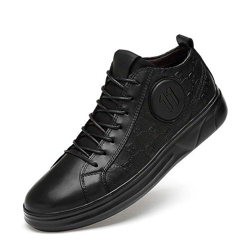 WOJIAO Zapatos Casuales de Hombre Vestido de Cuero Negro Casuales de Boda Trabajo de Oficina Mocasines de Fiesta: Amazon.es: Zapatos y complementos