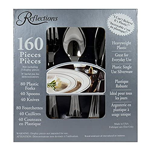 reflections plastic silverware 160 pieces