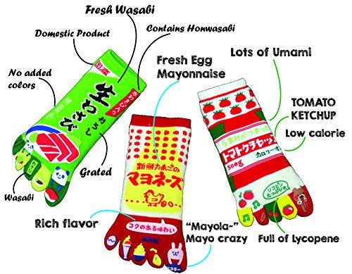 king-original-japanese-five-toe-ankle-socks-3-pairs-wasabi-mayonnaise-and-ketchup