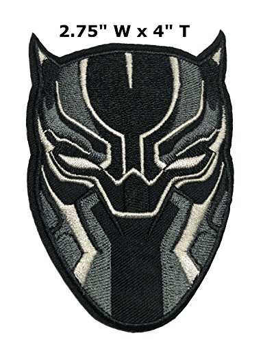 Black Panther Patch Wakanda Marvel Comics Superhero Theme logo Series 2018 New Movies Embroidered Iron/Sew on Badge DIY Appliques by Athena (Michael Jordan Party Supplies)