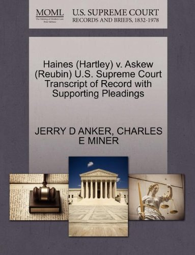 Haines (Hartley) v. Askew (Reubin) U.S. Supreme Court Transcript of Record with Supporting Pleadings