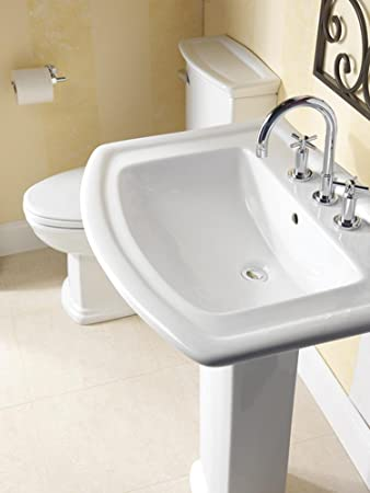 Barclay 3 398WH Washington 550 Vitreous China Pedestal Lavatory With 8 Inch  Widespread