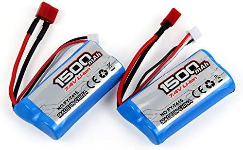 LiDi RC 7.4V 1500mAH 2S 25C Batería de litio recargable para ...