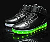 MOHEM ShinyNight High Top LED Shoes Light Up USB Charging Flashing Sneakers