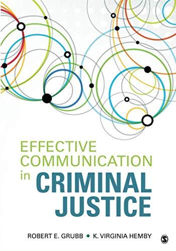 Effective Communication in Criminal Justice