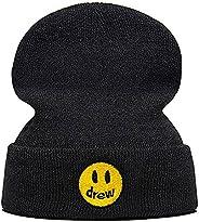 Lannly Knit Hat Drew House Justin Bieber Beanie Embroidery Smile Face Hat Unisex Men Women Ski Hat Hip Hop