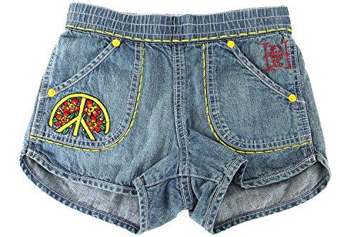 Ed Hardy Big Girls' Peace Shorts - Denim - 12 Ed Hardy Cotton Shorts