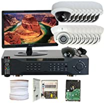 GW Security Inc. 16CHE6 16-Channel Professional DVR Security Camera System (Black and White)