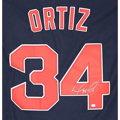 pretty nice 82e49 d5408 David Ortiz Boston Red Sox Signed Autographed Blue #34 ...