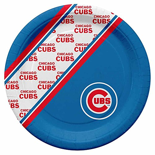 [Chicago Cubs Disposable Paper Plates] (Chicago Cubs Paper)