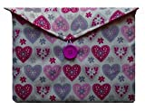 Purple and Pink Hearts Print Kindle Fire 7'' Bag for Amazon Kindle HD8 Tablet