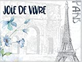 Paris Eiffel Tower Joy of Life Arc De Triomphe France, Europe, Canvas Wall Art Decor Gift, 30''x40'' French Artwork