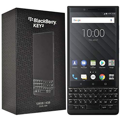 BlackBerry KEY2 128GB (Dual-SIM, BBF100-6, QWERTY Keypad) Factory Unlocked SIM-Free 4G Smartphone (Black Edition) - International Version