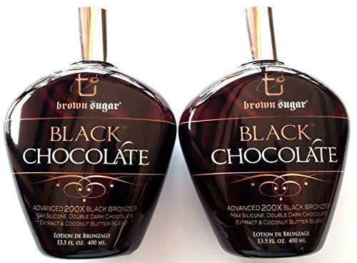 Lot of 2 Black Chocolate 200x Black Bronzer Tanning Lotion Brown Sugar Tan Inc. by Millennium Tanning Products