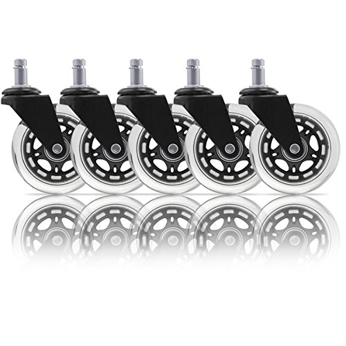 URBEST 5 Pcs Black Universal Heavy Duty Office Desk Chair...