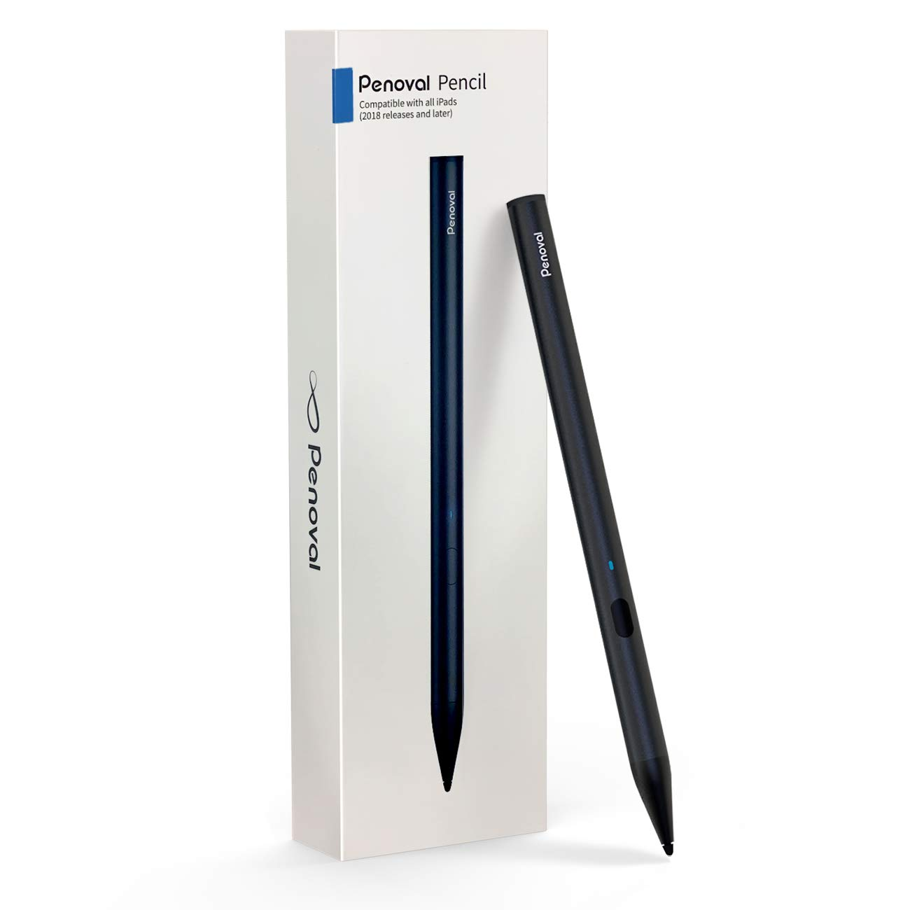 Stylus Pen for iPad 3rd Gen Palm Rejection 3rd Gen Penoval High-Precision Pencil for iPad 6th Gen iPad Air - White iPad Mini 5th Gen and IPad Pro