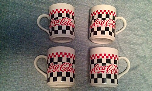 Coca-Cola Ceramic Mugs Set of 4 by Gibson
