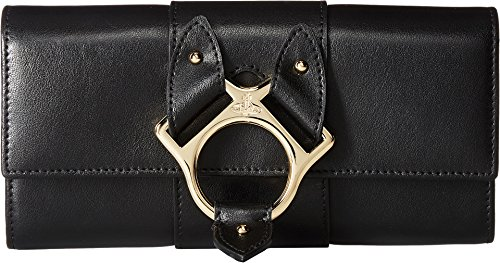 Vivienne Westwood Women's Folly Long Wallet with Flap Black One Size