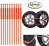 ONEST Winter Driving Anti-skid Emergency Snow Tyre Chains Car Belting Straps 10 PCS