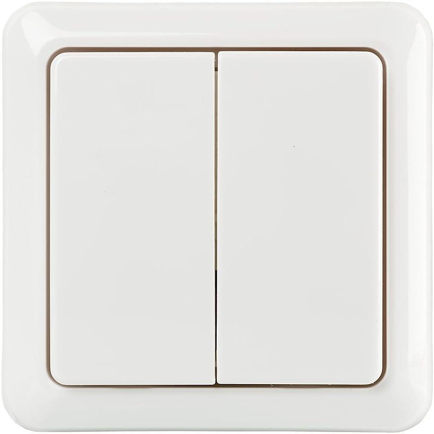 DLX-Interruptor de pared doble inal/ámbrico 2 Interruptores blanco