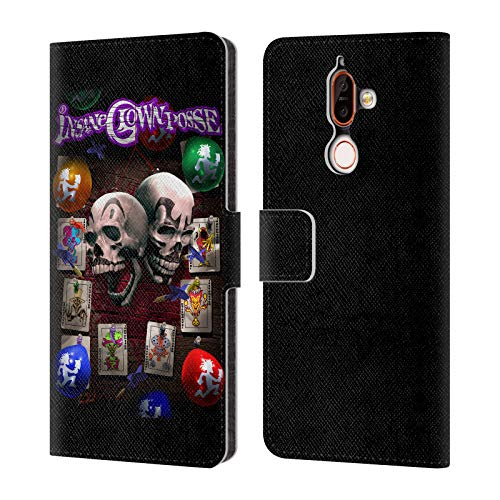 Official Tom Wood Darts of Fate Insane Clown Posse Leather Book Wallet Case Cover for Nokia 7 Plus