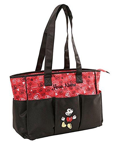 Personalized Disney Mickey Mouse Graffiti Print Triple Front Pocket Baby Duffel Diaper Bag with Zipper Top- 20 (Boy Disney Names)
