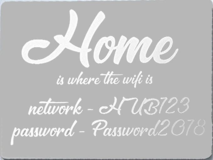 All Colours Available Wi-Fi PERSONALISED Password Metal Sign Add Your Password