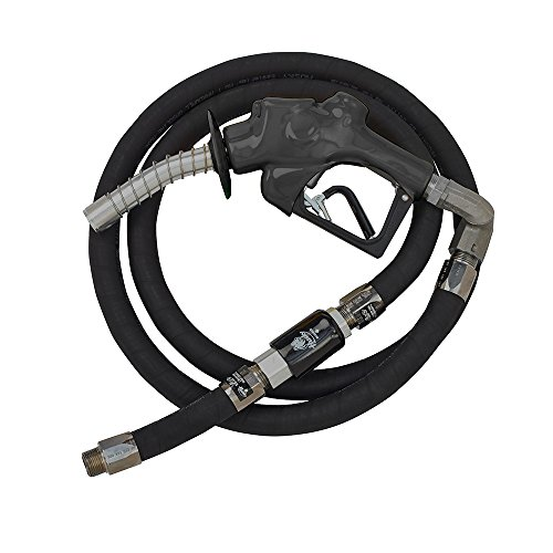Hardwall Hose (Husky 010698-04 Aluminum/Nitrile/Hypalon VIIIS Heavy Duty Pressure Activated EZ-Connect Diesel Nozzle with 1-Inch by 11.9' Hardwall Whip Hose)