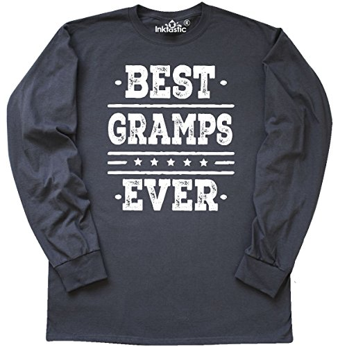 Father Long Sleeve T-shirt (inktastic Best Gramps Ever Fathers Long Sleeve T-Shirt X-Large Charcoal Grey)