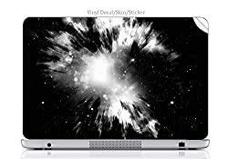 Laptop VINYL DECAL Sticker Skin Print Big Bang Explosion fits Latitude D610