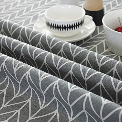 SODIAL 150 cm Baumwolle Runde Tisch Decke Runde Grau Tisch Decke Matte Dekoration