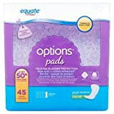 Equate Options Ultimate Long Length Incontinence Pads, 45 count (1)