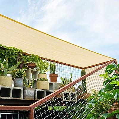ZZZR 85% Invernadero de jardín Protector Solar Malla de Sombra, Tela con Ojales sellados Edge, Sombreadora rectángulo para al Aire Libre para Estanque, Red para jardín o Planta, 4m*6m Beige: Amazon.es: Jardín