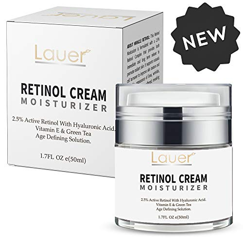 (Retinol Moisturizer for Face and Eye area | Anti Aging Cream with Hyaluronic Acid, 2.5% Active Retinol and Vitamin E | Reduces Appearance of Wrinkles and Fine lines | Best Day and Night Face Cream)